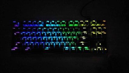 Rakk Kimat TKL Mechanical Keyboard Lighting Effect Overview
