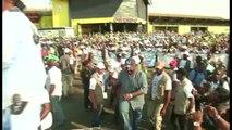 Gabon, ALI BONGO ONDIMBA en campagne à Owendo