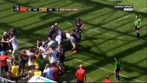 Baston générale entre les rugbyman de Grenoble et Brive