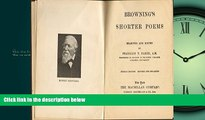 Enjoyed Read Browning s Shorter Poems