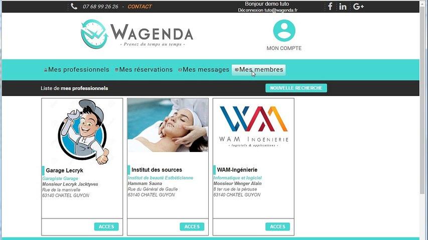 Wagenda comment changer ou réinitialiser le mot de passe