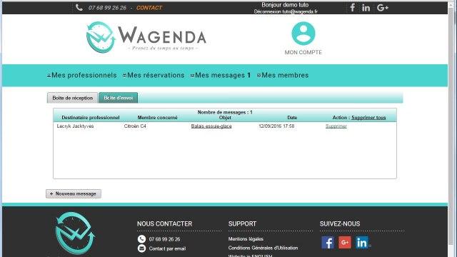 Wagenda comment envoyer un message