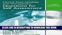 Collection Book Clinical Pharmacology and Therapeutics: Questions for Self Assessment, Third