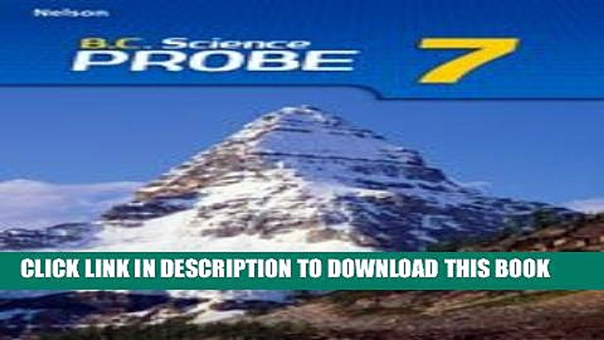 New Book B.C. (British Columbia) Science Probe 7