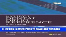 New Book Mosby s Dental Drug Reference, 9e (Mosby s Dental Drug Consult)