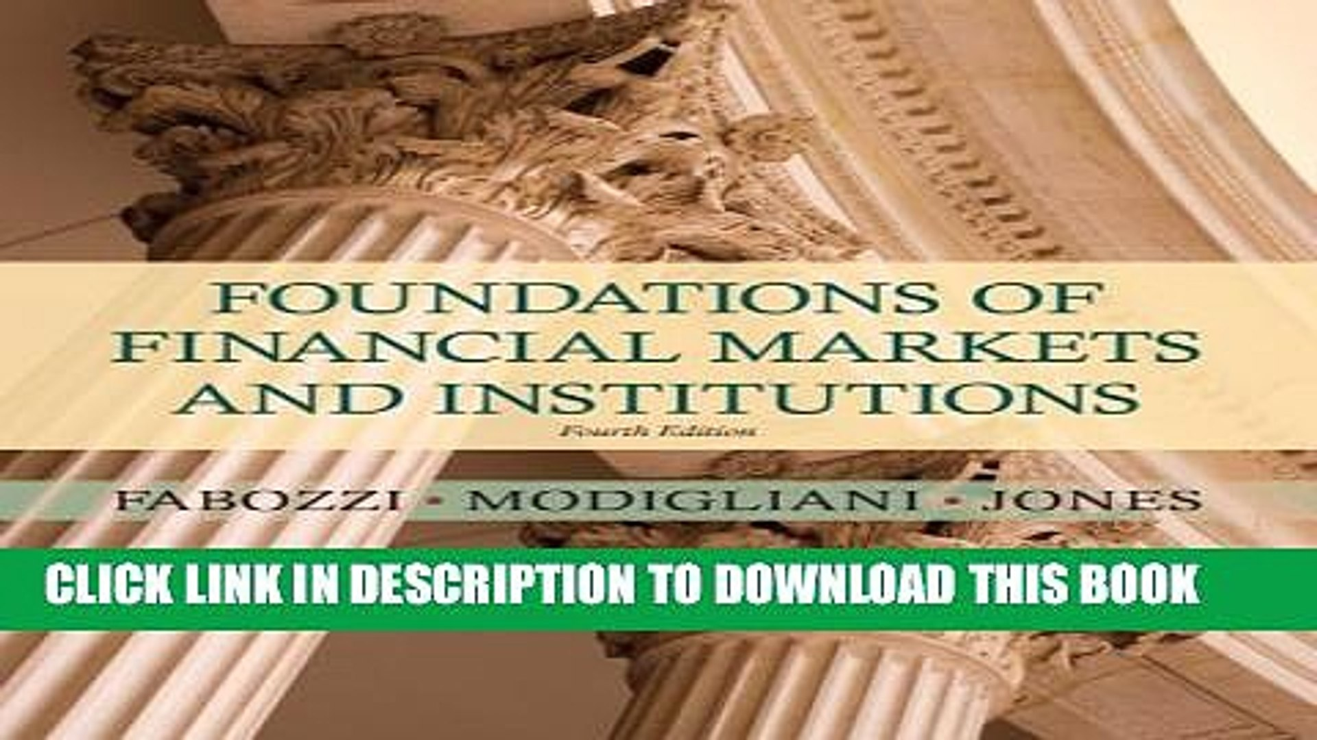 foundations of financial markets and institutions fabozzi pdf free download