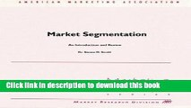 Read Market Segmentation: An Introduction and Review  Ebook Free