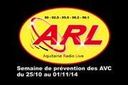 """25/10/2014 : Philippe Meynard sur ARL pour le lancement de """"la semaine contre les AVC"""""""