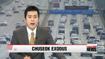 Congested expressways expected as Chuseok exodus begins