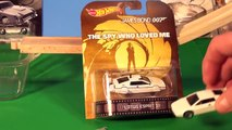 James Bond Cars Re-Enactment Scene, Car To Submarine with Hot Wheels Cars