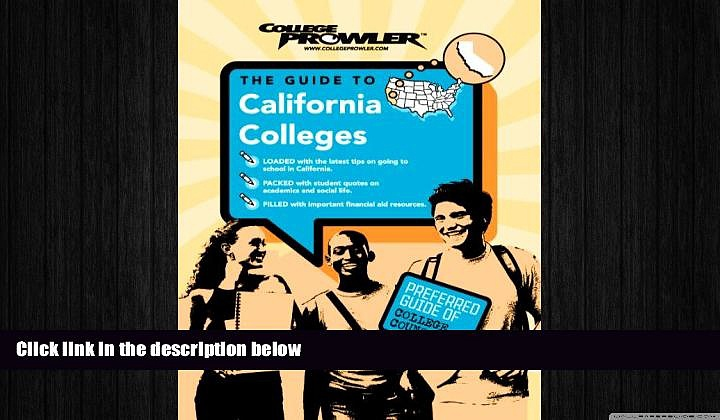 different   California Colleges (College Prowler) (College Prowler: California Colleges)