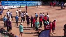 Huitièmes de finale, Sport Boules, France Quadrettes Vétérans, Cluses 2016