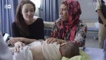 Анджелина Джоли в лагере беженцев обратилась к мировым лидерам