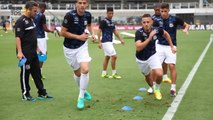 Veja os bastidores da vitória do Santos sobre o Corinthians