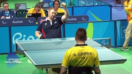 Fabien Lamirault - Médaille d'or Tennis de table classe 2 - Jeux Paralympiques Rio 2016