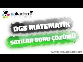 DGS Matematik Sayılar Soru Çözümleri