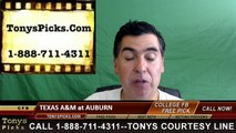 Auburn Tigers vs. Texas AM Aggies Free Pick Prediction NCAA College Football Odds Preview 9-17-2016