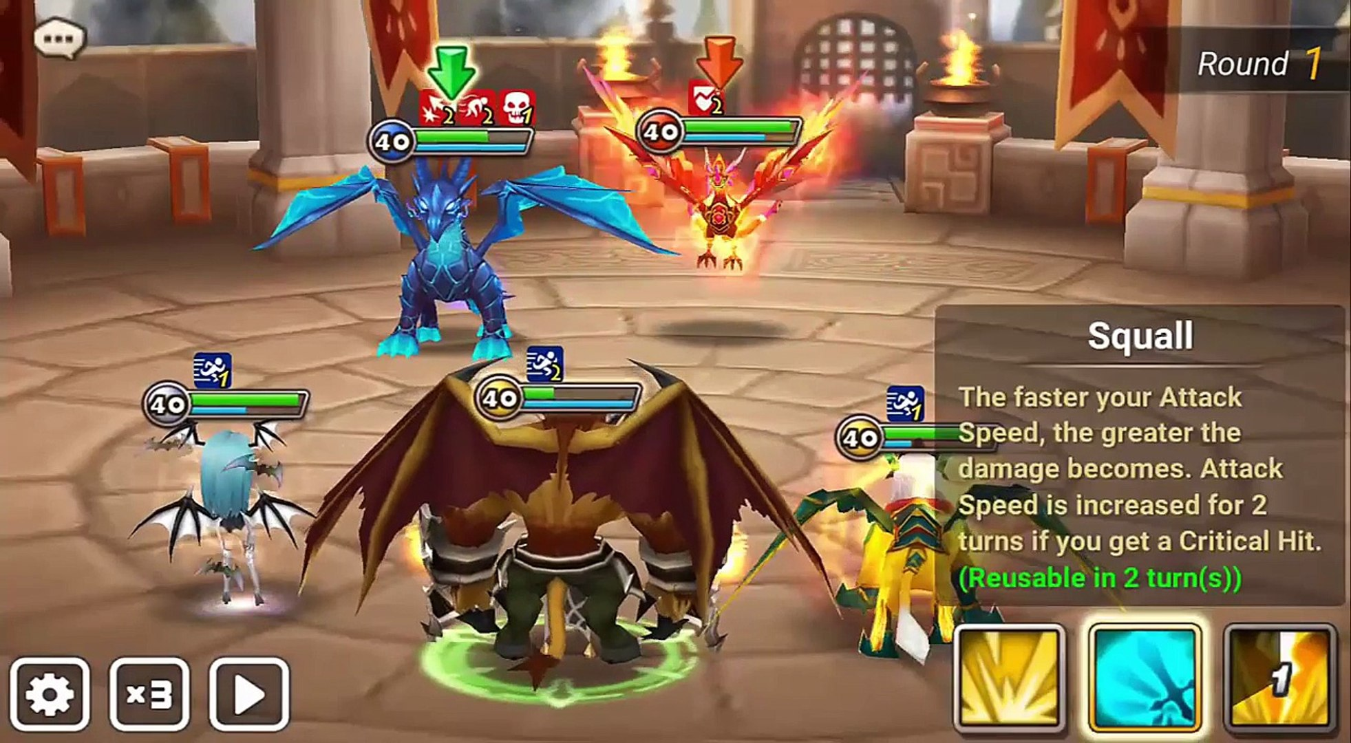 Summoners War Daily Guild War 3 Session, Sleeping Aria