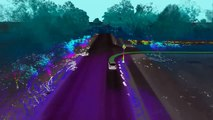 3D Map Overlap Ford Fusion Hybrid Autonomous Research Vehicle on Dearborn Campus