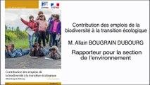 Contribution des emplois de la biodiversité à la transition écologique - cese