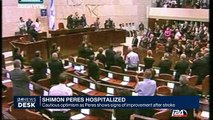 Shimon Peres hospitalized : cautious optimism as Peres shows signs of improvement after stroke
