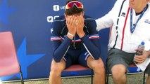 Alexys Brunel, en pleurs, est Champion d'Europe Juniors CLM