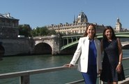 Ségolène Royal et Anne Hidalgo inaugurent la piétonisation des voies sur berges à Paris