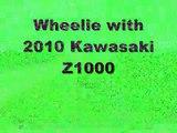 Kawasaki Z1000  stunt Show top speed test review sound crash