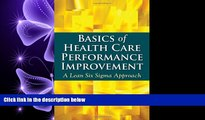 behold  Basics Of Health Care Performance Improvement: A Lean Six Sigma Approach