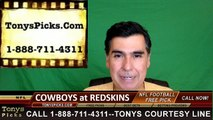 Washington Redskins vs. Dallas Cowboys Free Pick Prediction NFL Pro Football Odds Preview 9-18-2016