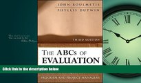 Pdf Online The ABCs of Evaluation: Timeless Techniques for Program and Project Managers