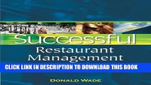 [PDF] Successful Restaurant Management: From Vision to Execution (Restaurant and Food Service