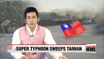 Super Typhoon Meranti sweeps Taiwan; headed for China