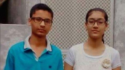 Siblings donate toilet to a school with their scholarship money
