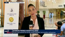 Shimon Peres hospitalized : some improvement but condition still serious
