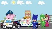 Masha and the Bear with PJ Masks Catboy Gekko Owlette Cry Parody in Prison Kids Animation