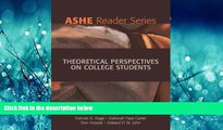 Popular Book Theoretical Perspectives on College Students (2nd Edition)