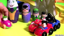 DC Comics Villains Stacking Cups Nesting Toys Surprise Joker, Catwoman, Harley Quinn (DC 코믹스의 슈퍼빌런)