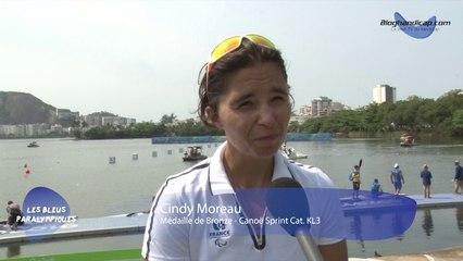 Cindy Moreau - Médaille de Bronze Canoë Sprint Cat. KL3 - Jeux Paralympiques Rio 2016