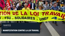 A Nantes, quelques incidents dans la manifestation contre la loi travail