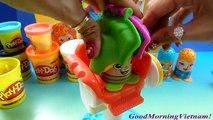Play-Doh Cắt Tóc Tạo Kiểu Tóc Cắt Tóc Cho Thầy Giáo Play-doh hair Salon Toys Kids