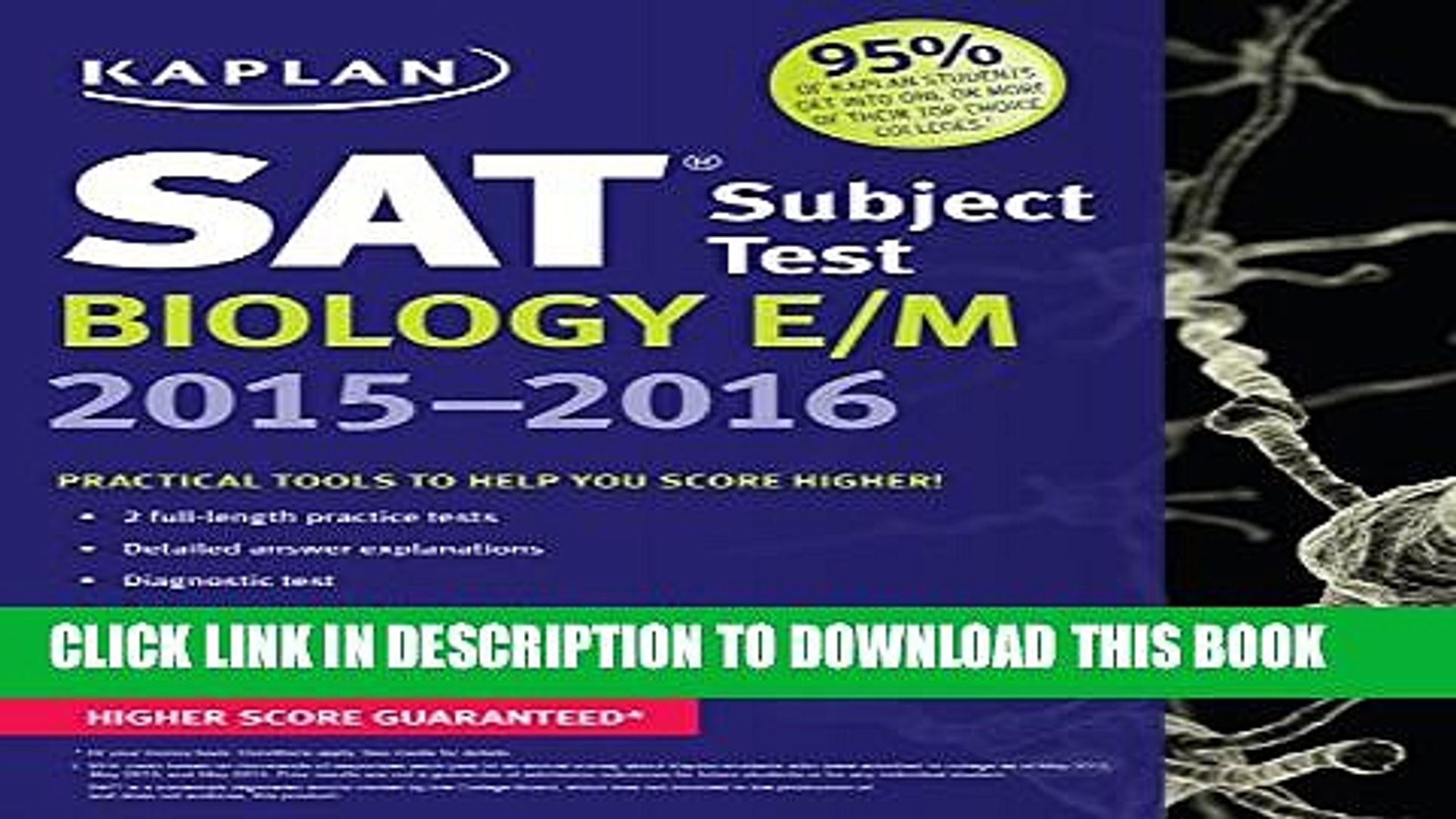 [PDF] Kaplan SAT Subject Test Biology E/M 2015-2016 (Kaplan Test Prep) Full  Online
