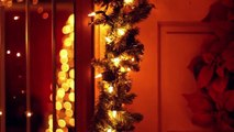 Christmas decorated house with lights - Free stock footage hd 720p