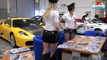 Stunt Men & Car Tuning Show in Rome - Police Car & Girls