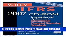 New Book Wiley IFRS 2007: Interpretation and Application of International Financial Reporting