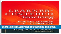 New Book Learner-Centered Teaching: Five Key Changes to Practice