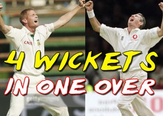 Best Fast bowling 4 Wickets in 1 Over in cricket History Shaun Pollock & Andrew Caddick