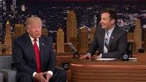 Le présentateur américain Jimmy Fallon décoiffe Donald Trump en direct!