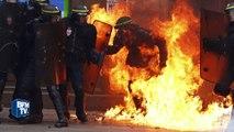Manifestation contre la loi Travail: violents affrontements entre casseurs et forces de l'ordre