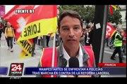 Francia: manifestantes se enfrentaron a policías tras marcha